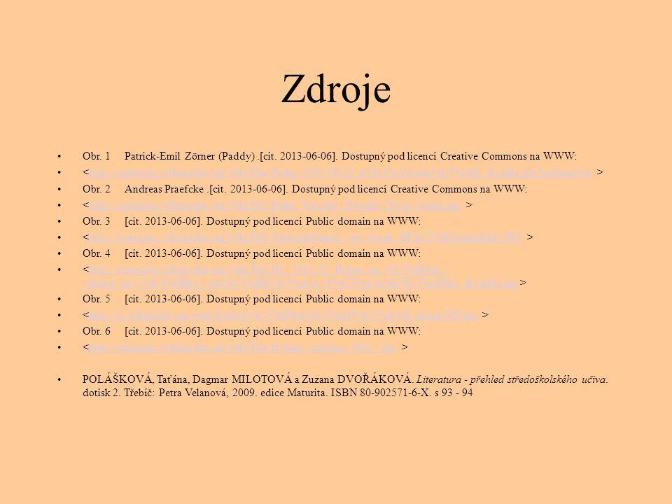 Zdroje Obr. 1 Patrick-Emil Zörner (Paddy) .[cit. 2013-06-06]. Dostupný pod licencí Creative Commons na WWW: